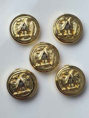 D9920 Button Covers Scottish Rite 32nd Degree