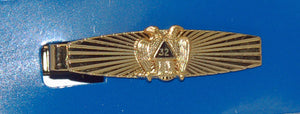 D351 Tie Bar Sunburst 32nd Scottish Rite Gold
