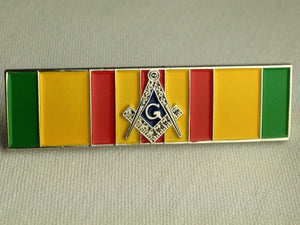 D302 Masonic Vietnam Service Ribbon Lapel Pin with S&C