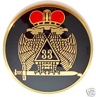 D575SR-8 Scottish Rite 33rd Auto Emblem