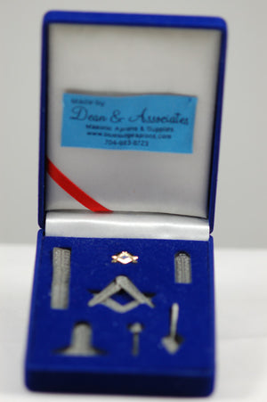D9994 Masonic Miniature Working Tools Set (Silver)