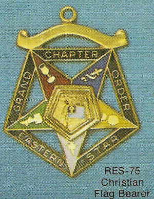 DRES-75 OES Grand Chapter Christain Flag Bearer