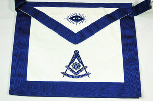 "D2535 Past Master Apron 13"" x 15""  CHOICE OF MATERIALS"