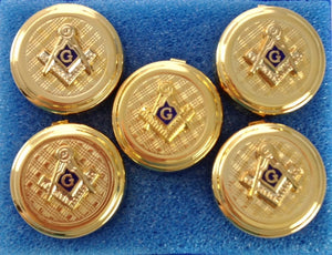 D9746 Button Cover Set Masonic S&C Gold