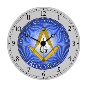 D9926T-Tone Masonic Wall Clock Blue Two-Tone