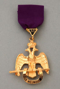 RSR6 Scottish Rite 33rd Degree Jewel Wings Down