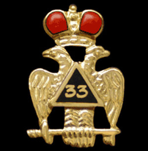 D211SR 33rd Scottish Rite Lapel Pin