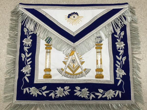 D2550 Apron Masonic Past Master Bullion 14 x 16 REAL LEATHER