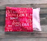 Warmie - Microwave Rice Bag -  LOVE Pattern