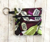 Wine Lover Ear Bud Case - Wine Coin Purse