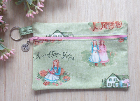 Anne of Green Gables Clutch Purse - Make Up Bag - Green