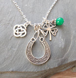 Celtic Charm Necklace and Earrings
