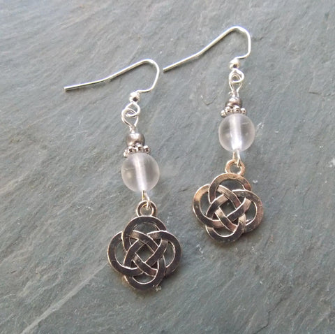 Celtic Knot Pendant Necklace and Earrings