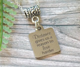 Distance Gives Us Reason to Love Harder - Long Distance Love Necklace