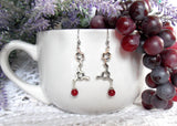 Red Wine Molecule Earrings