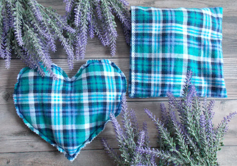Warmie - Microwave Rice Bag - Blue Plaid