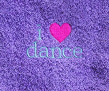 I Heart Dance Hand Towel ~ Purple