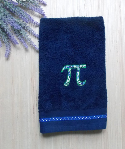 Blueberry Pi Hand Towel - Navy Blue
