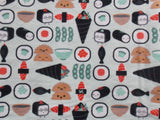 Peace Crane and Sushi Baby Blanket - Red