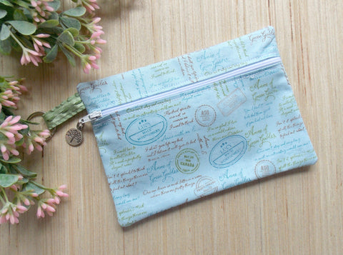 Anne of Green Gables Clutch Purse - Make Up Bag - Blue