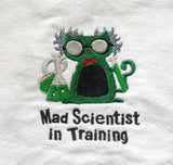 Mad Scientist in Training Science Baby Bib