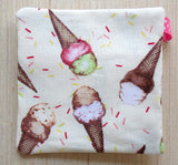 Ice Cream Cone Ear Bud Case - Coin Purse