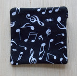 Music Note Ear Bud Case - Coin Purse - Key Fob