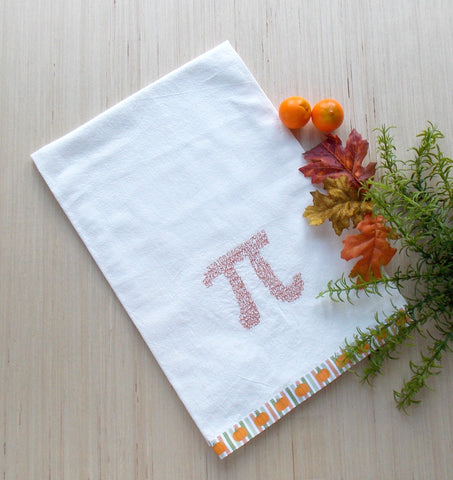 Pumpkin Pi Kitchen Tea Towel