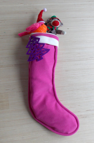 Pink and Purple Fleece Stocking Care Package
