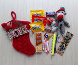 Red Cable Knit Mini Stocking Care Package