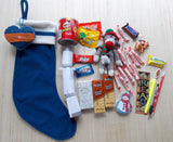 Blue Fleece Stocking Care Package