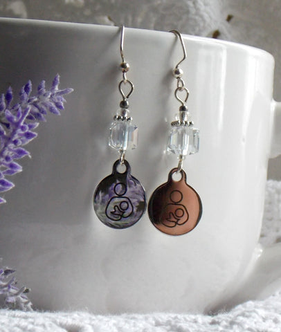 Breastfeeding Symbol Earrings - Choose Color