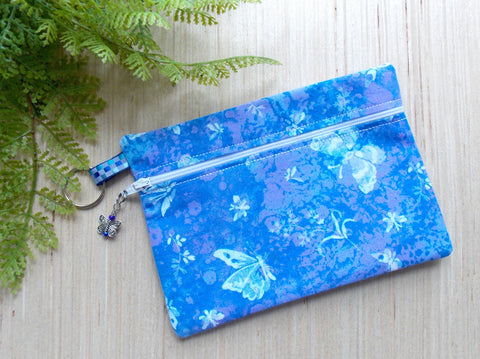 Butterfly Cosmetic Bag - Blue