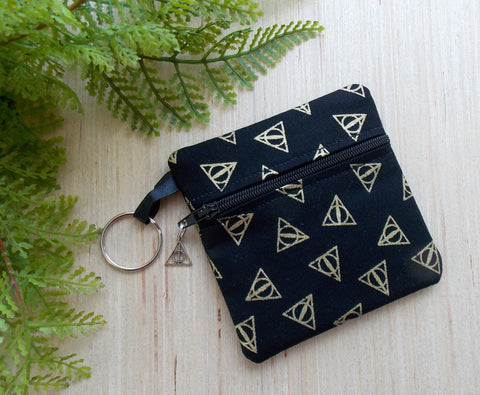Wizard Symbol Ear Bud Case Key Chain - Coin Purse