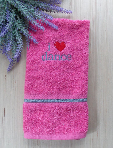 I Heart Dance Hand Towel