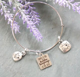 Dance is the Hidden Language of the Soul Bracelet - Silver-Tone
