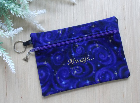 Wizard Clutch Purse/Cosmetic Bag - Purple