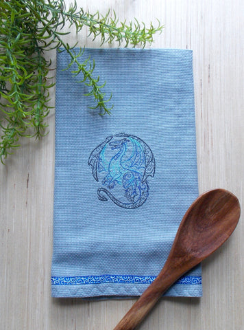 Dragon Kitchen Tea Towel