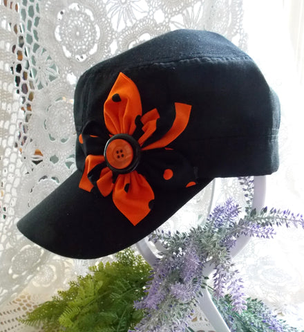 Cadet Cap - Black & Orange