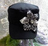Cadet Cap - Black & White