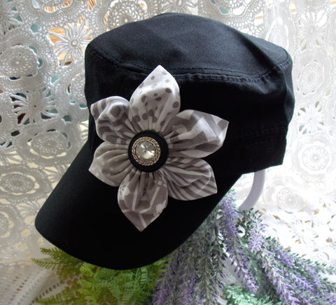 Cadet Cap - Black & Gray