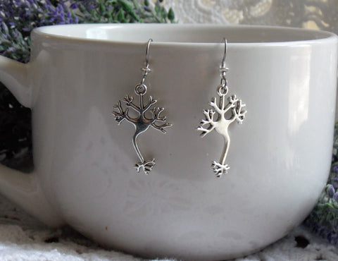 Neuron Earrings - Silver