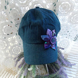 Baseball Cap - Denim & Purple