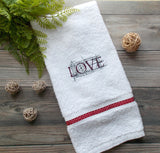 LOVE Hand Towel - White