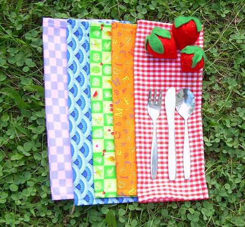 Lunch Box Cloth Napkins - Assorted