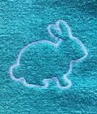Rabbit Applique Hand Towel