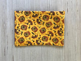 Sunflower Cosmetic Bag & Clutch Purse