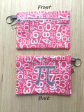 Pi Symbol Flat Lay Cosmetic Bag - Pink