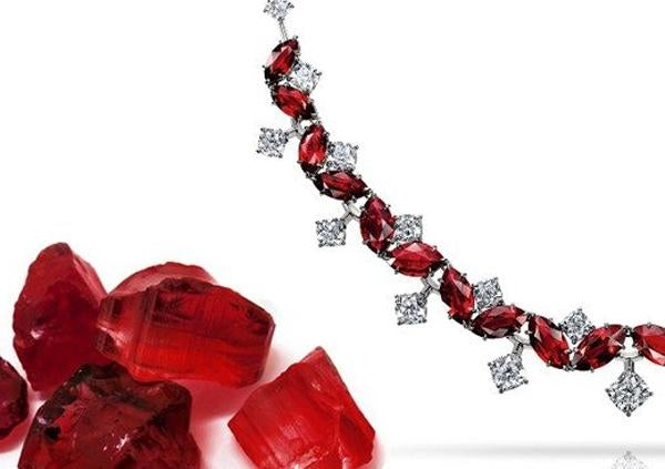 The ruby necklace worth almost half a million pounds