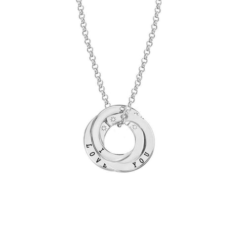Scripted 'I Love You' Sterling Silver Necklace-Lily and Lotty-JewelStreet US